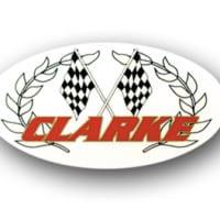 """""""CLARKE"""" Clear SM Oval Sticker (2 x 3.5) #CD8"""