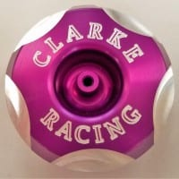 Clarke Racing Low-Profile Anodized Billet Caps # 1292-ABS (internal thread)