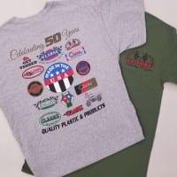 """50th"" Anniversay CLARKE T Shirt. # A-13-50"