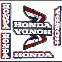 S-6 Honda Wing Sheet Red/White/Blue